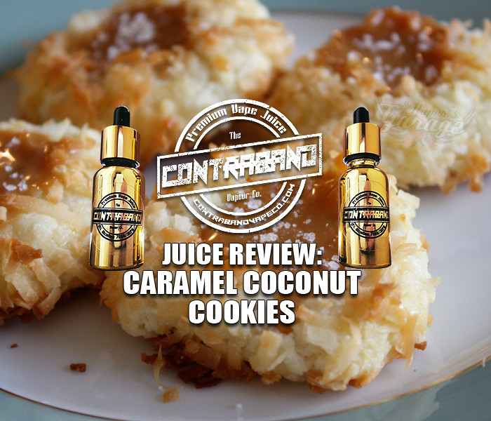 eJuice Review: Caramel Coconut Cookies by Contraband Vape Co.