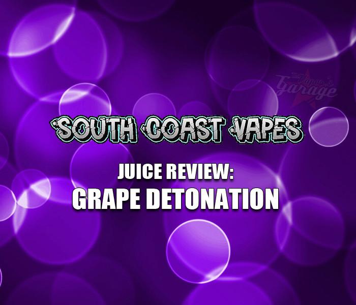 eJuice Review: Grape Detonation by South Coast Vapes