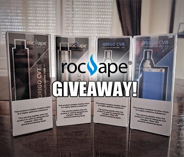 Giveaway: RocVape Origo CVB and Origo CVT Kits
